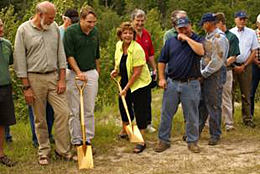 Groundbreaking for Streamside Rearing Facility